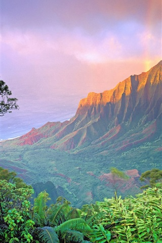 iPhone Wallpaper American landscape, mountain sunrise