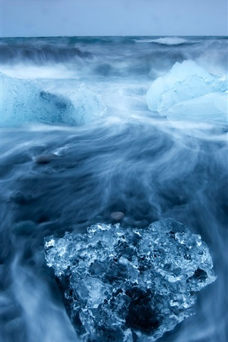 iPhone Wallpaper Arctic beauty of the ocean of blue ice
