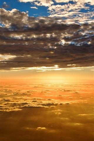 iPhone Wallpaper Beautiful scenery, sunset sky clouds