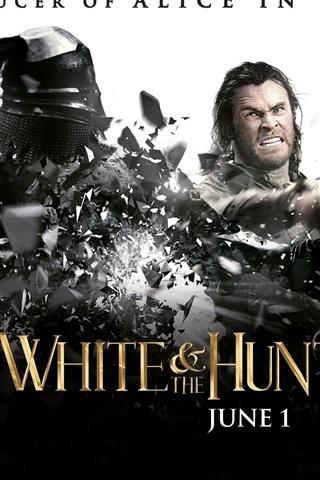 iPhone Hintergrundbilder Chris Hemsworth in Schneewittchen und der Jäger
