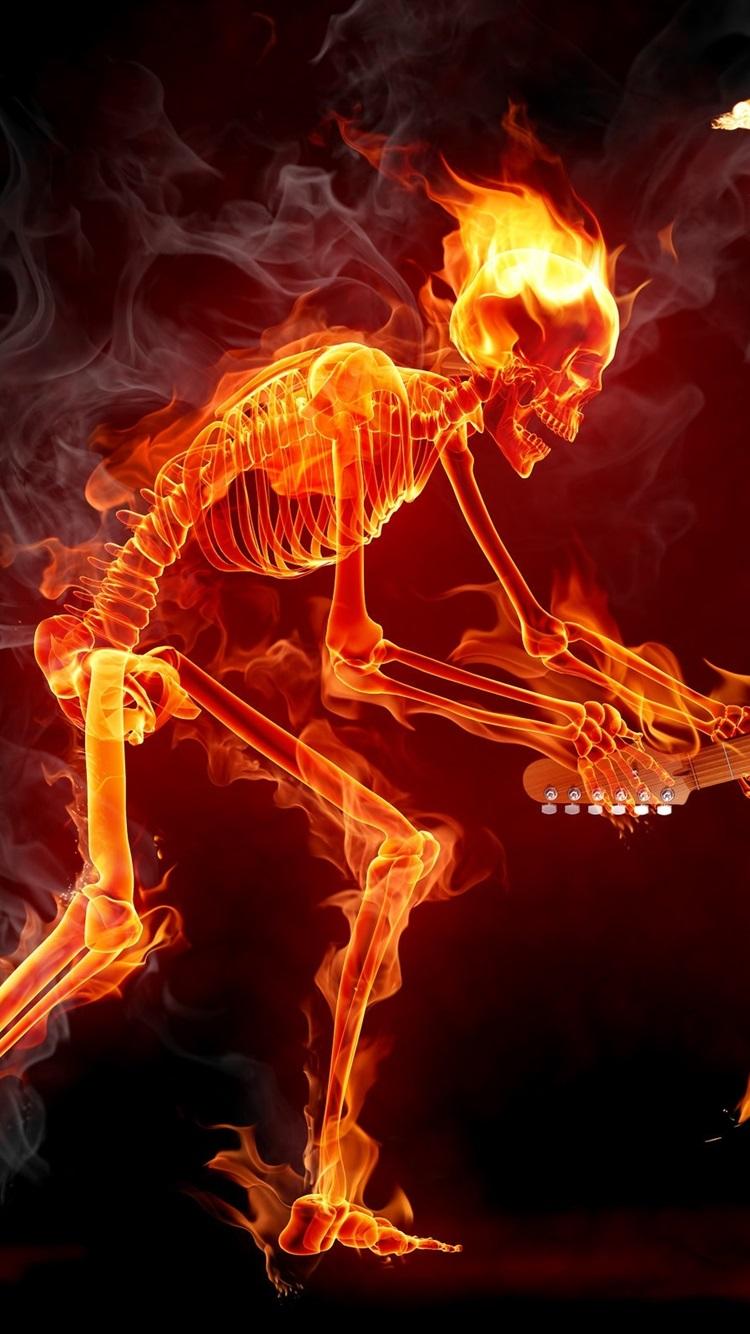 огненные картинки скелет так удалось