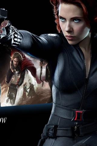 Scarlett Johansson Is Black Widow The Avengers 640x960