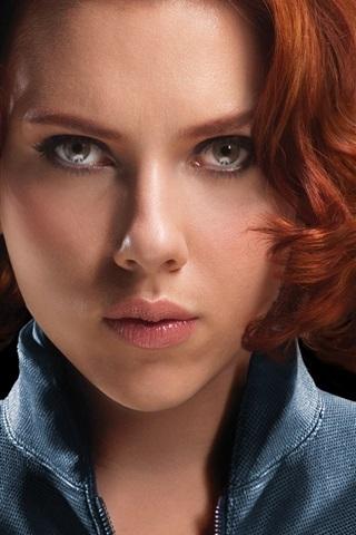 iPhone Wallpaper The Avengers, Scarlett Johansson: black widow