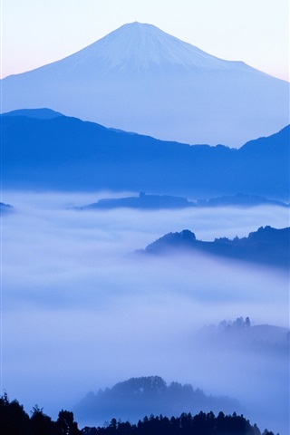 iPhone Wallpaper The dawn of Japan's Mount Fuji beauty