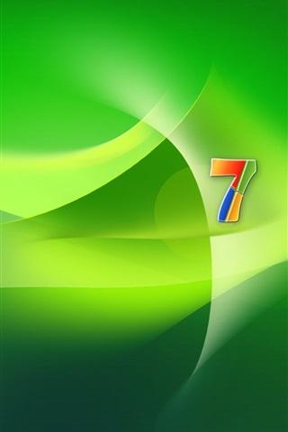 iPhone Papéis de Parede Windows 7 espaço verde