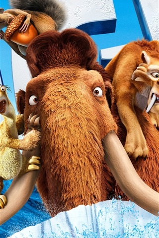 iPhone Wallpaper 2012 Ice Age 4 movie