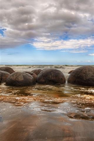 iPhone Wallpaper Beach stones