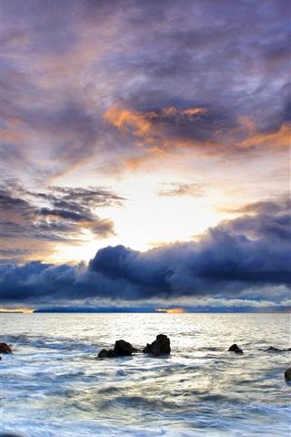iPhone Wallpaper Beautiful colorful ocean sky
