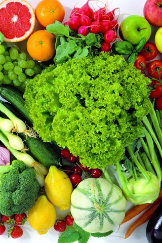 iPhone Обои Продукты питания Фрукты и овощи