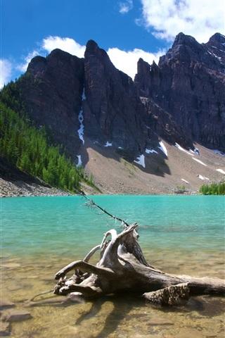 iPhone Wallpaper Lake Agnes Banff Canada