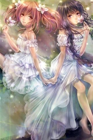 iPhone Wallpaper Magic girls anime