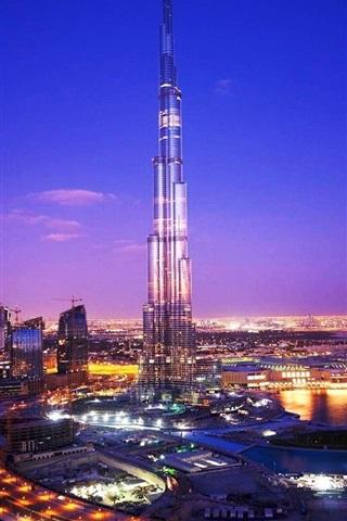 iPhone Wallpaper Night City Dubai