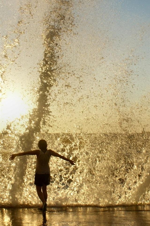 Seaside Splash Of Sand Waves 640x1136 Iphone 5 5s 5c Se