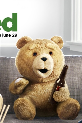 iPhone Wallpaper Ted 2012 movie