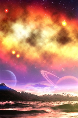 iPhone Wallpaper The dream world of the charming sky