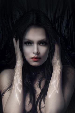 iPhone Wallpaper The fantasy girl in the dark