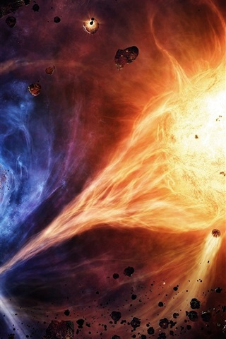 iPhone Wallpaper The powerful energy of the planet explosion