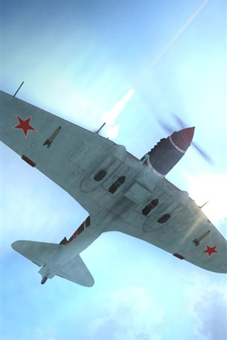 iPhone Wallpaper World of Warplanes wide