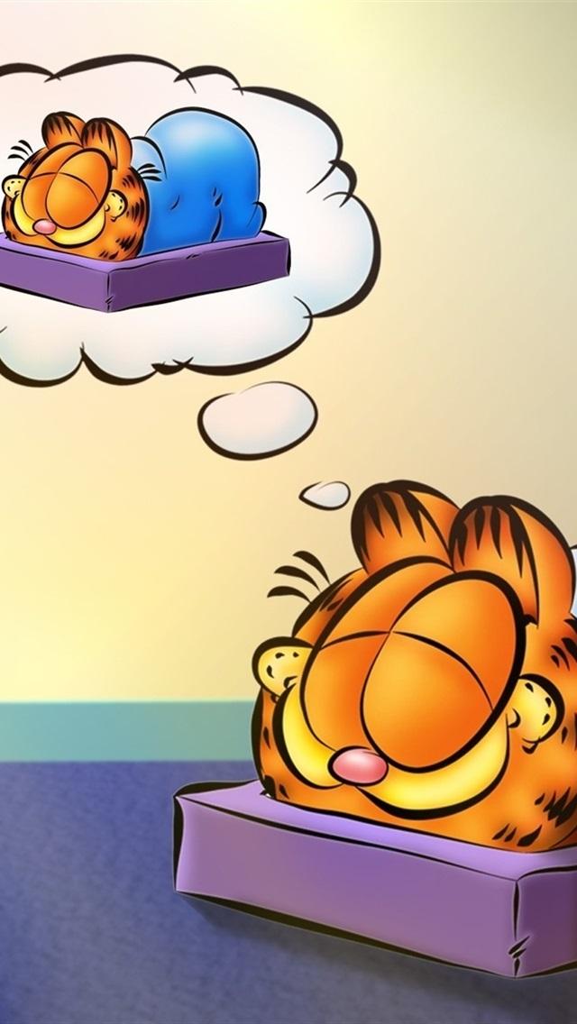 Cartoon Star Garfield 640x1136 Iphone 5 5s 5c Se Wallpaper Background Picture Image