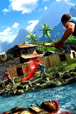 iPhone Wallpaper Far Cry 3 game 2012