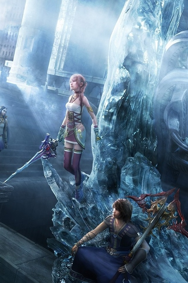 Final Fantasy XIII-2 PC game 640x960 iPhone 4/4S wallpaper