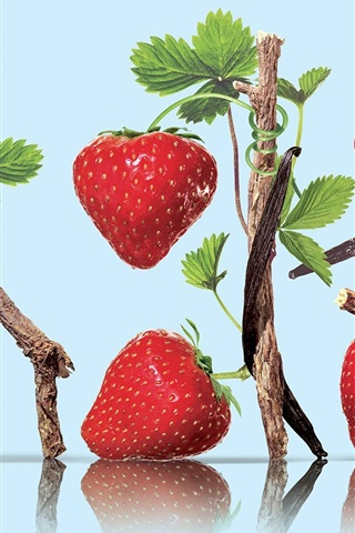 iPhone Wallpaper Nutrient rich fruits, strawberry