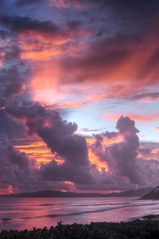 Seaside Sunset Sky Clouds 640x1136 Iphone 5 5s 5c Se