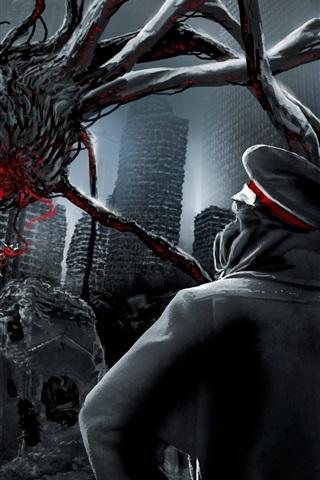 iPhone Wallpaper Apocalyptic mutant spider