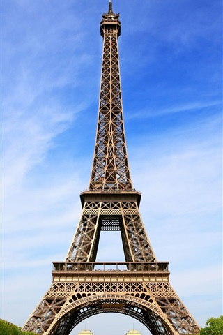 iPhone Wallpaper Attractions, the Eiffel Tower in Paris, France