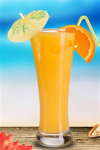 iPhone Wallpaper Cocktail of orange juice