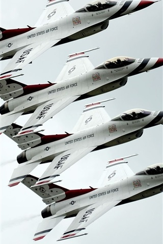 iPhone Wallpaper Dynamics F-16 Fighter