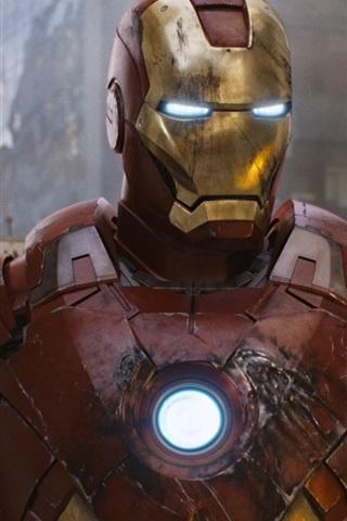 iPhone Wallpaper Superhero Iron Man in The Avengers