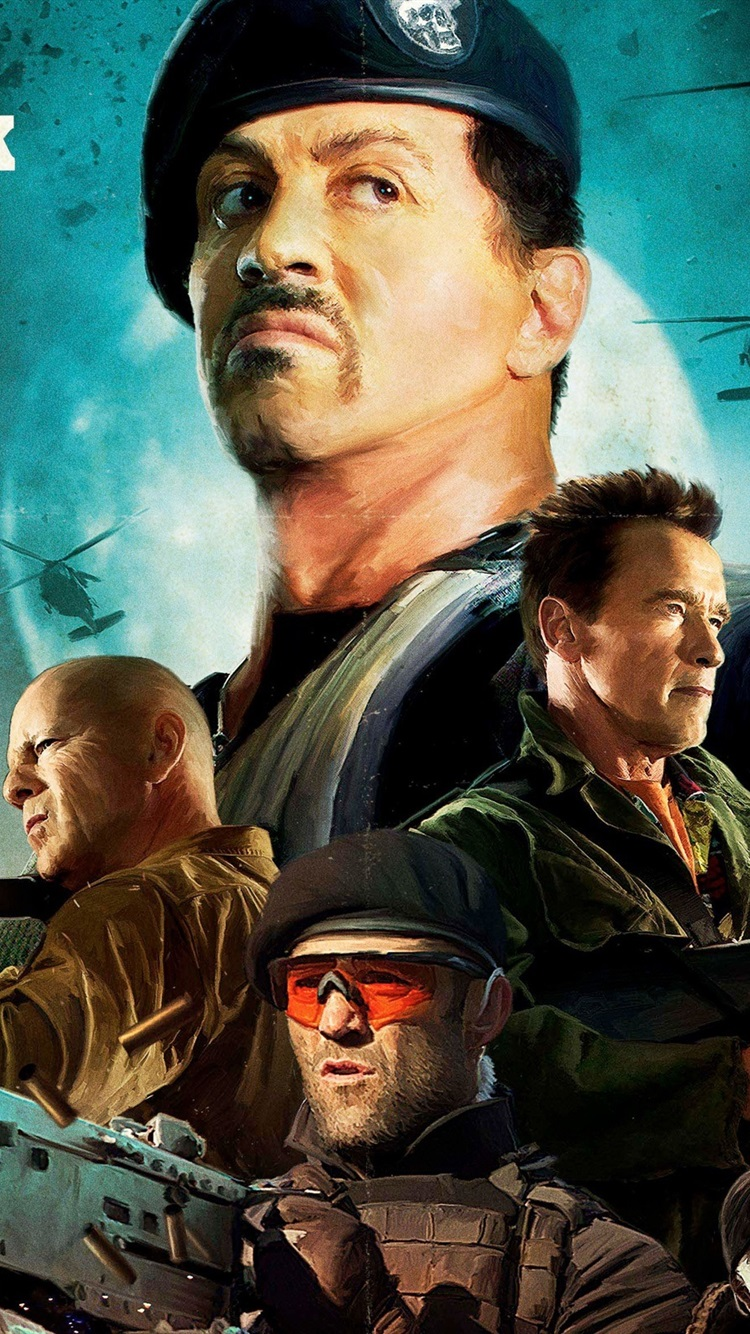 the expendables 2, sylvester stallone hd 750x1334 iphone 8/7/6/6s