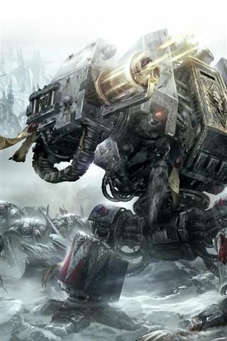 iPhone Papéis de Parede Warhammer 40.000: Space Marine HD