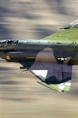iPhone Wallpaper Military aircraft, F4 fighter