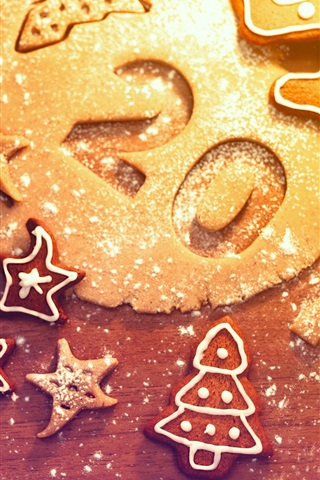 2013 New Year Christmas Cookies 750x1334 Iphone 8 7 6 6s Wallpaper Background Picture Image