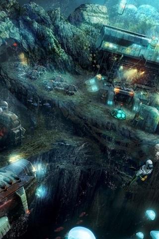 iPhone Papéis de Parede Anno 2070: Deep Ocean