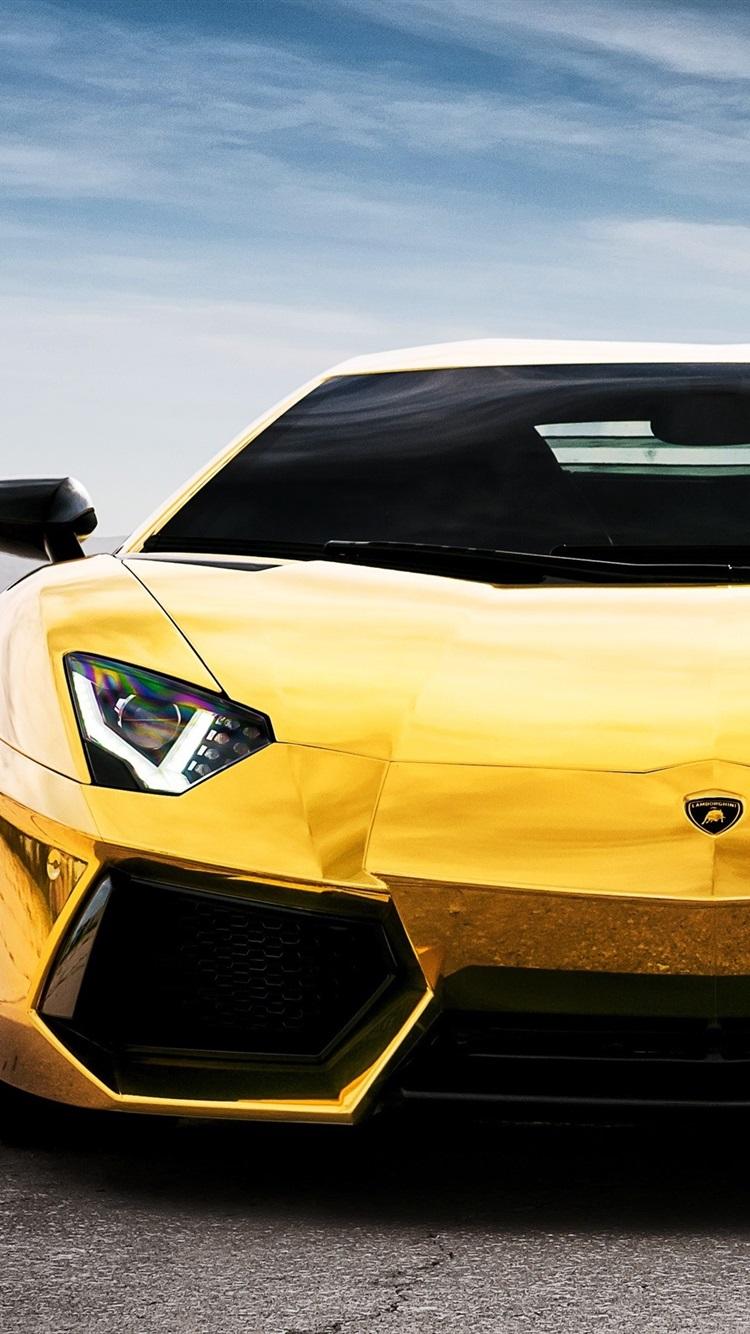 Lamborghini Aventador Lp700 4 Yellow Supercar 750x1334 Iphone 8 7 6 6s Wallpaper Background Picture Image
