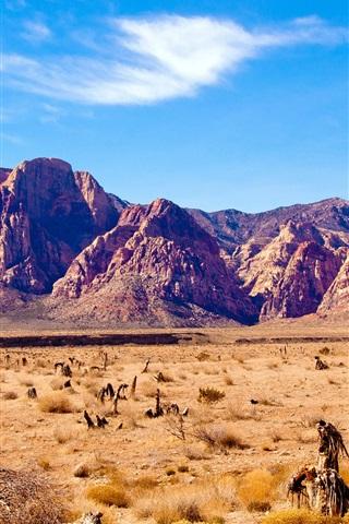 iPhone Wallpaper Nevada desert, rocks mountains, red rock canyon