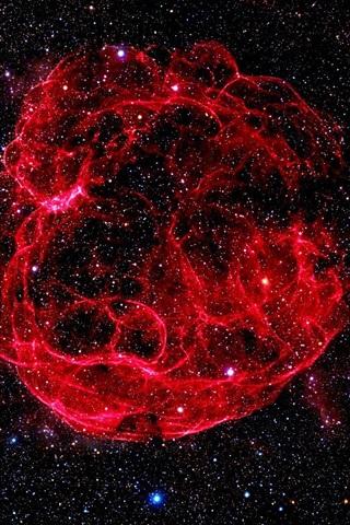 iPhone Wallpaper Red nebulae, stellar