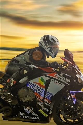 iPhone Wallpaper Honda motorcycle, racing
