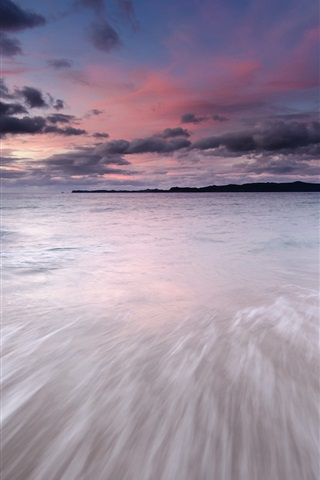 iPhone Wallpaper Japan landscape, sea, coast, evening, sky, sunset, clouds