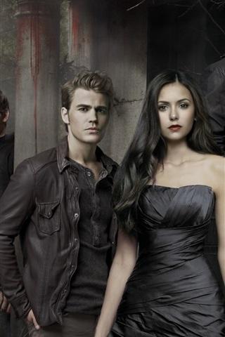 iPhone Обои The Vampire Diaries, горячая сериал
