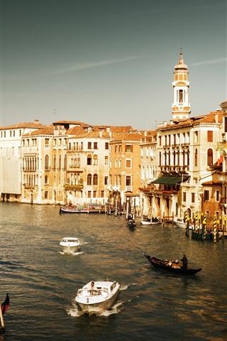 iPhone Wallpaper Tourist destination, Italy, Venice, Watertown