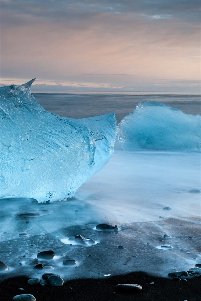 クリスタルブルーの海氷 640x1136 Iphone 5 5s 5c Se 壁紙 背景 画像