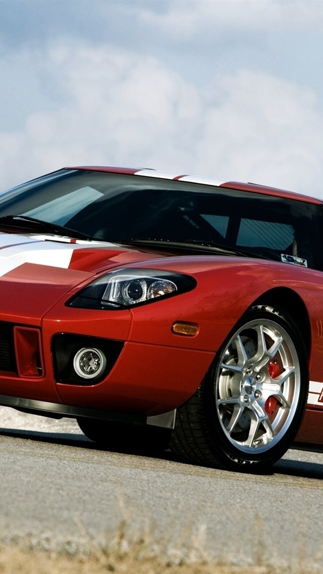Ford Gt 700 Supercar Red Color 640x1136 Iphone 5 5s 5c Se Wallpaper Background Picture Image