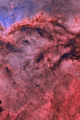 iPhone Wallpaper Nebulae, stars, red, beautiful, space