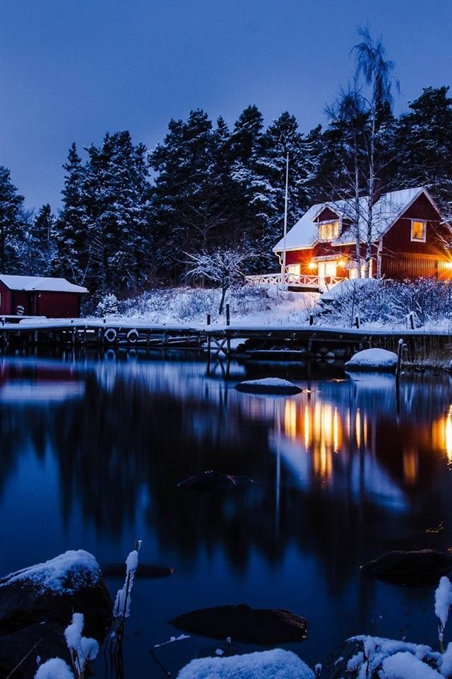 Wallpaper Stockholm Sweden Winter Landscape Of Snow