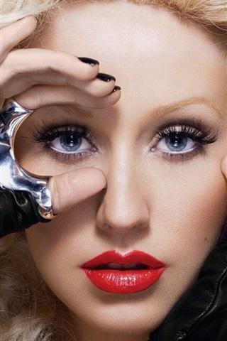 iPhone Wallpaper Christina Aguilera 09
