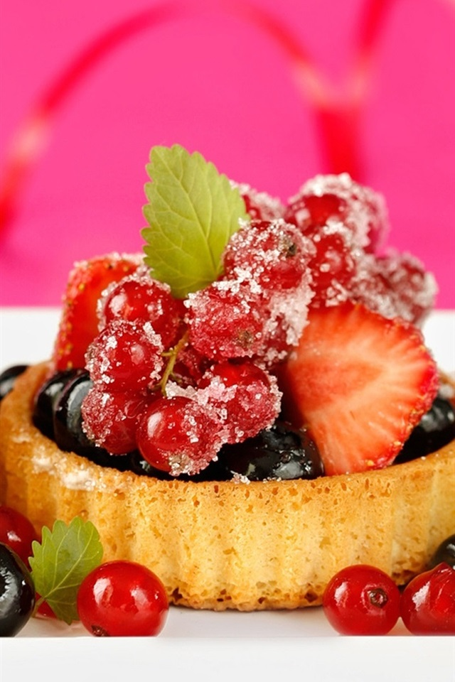 small food wallpapers: Wallpaper Delicious Food, Dessert Cake, Small Berries